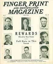 Thumbnail image of Finger Print and Identification Magazine, 1936, July Issue cover