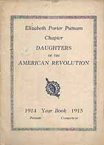 Thumbnail image of Elizabeth Porter Putnam DAR Chapter 1914-1915 Year Book cover