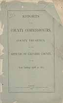 Thumbnail image of Cheshire County Commissioners 1885 Report cover