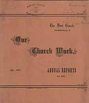Thumbnail image of Painesville First Church 1883 Reports cover