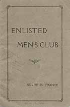 Thumbnail image of Enlisted Men's Club 1917-1919 in France cover
