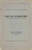Thumbnail image of Atlantic Coast Line Railroad Police 1930 Report cover