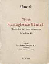 Thumbnail image of Scranton First Presbyterian Church 1896 Manual cover