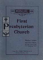 Thumbnail image of Scranton First Presbyterian Church 1905 Manual cover