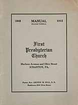 Thumbnail image of Scranton First Presbyterian Church 1915 Manual cover