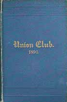 Thumbnail image of NYC Union Club 1895 Membership cover