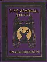Thumbnail image of Omaha Lodge, No. 39, B.P.O.E. 1906 Memorial cover