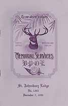 Thumbnail image of St. Johnsbury Lodge, No. 1343, B.P.O.E. 1930 Memorial cover