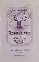 Thumbnail image of St. Johnsbury Lodge, No. 1343, B.P.O.E. 1931 Memorial cover