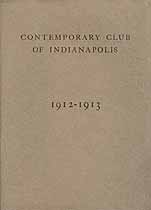 Thumbnail image of Indianapolis Contemporary Club 1912-1913 cover