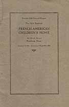 Thumbnail image of New England French-American Children's Home 1920 Report cover