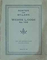 Thumbnail image of Webbs Lodge, F. & A. M., 1920 By-Laws and Roster cover