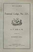 Thumbnail image of Fraternal Lodge, F. & A. M., 1905 By-Laws cover