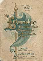 Thumbnail image of New York Lithographers 1902 Picnic Program cover