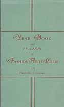Thumbnail image of Nashville Fashion Art Club 1933 Year Book cover