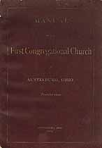Thumbnail image of Austinburg First Congregational Church 1886 Manual cover