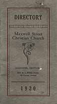 Thumbnail image of Maxwell Street Christian Church 1920 Directory cover