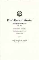 Thumbnail image of Brattleboro Lodge, No. 1499, B.P.O.E. 1930 Memorial cover