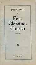 Thumbnail image of Ottumwa First Christian Church 1914-1915 Directory cover