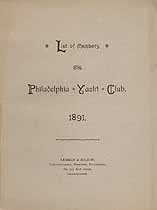 Thumbnail image of Philadelphia Yacht Club 1891 Members cover