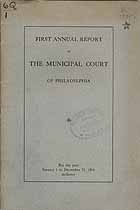 Thumbnail image of Philadelphia Municipal Court 1914 Report cover