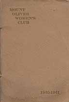Thumbnail image of Mount Oliver Women's Club 1940-1941 Year Book cover
