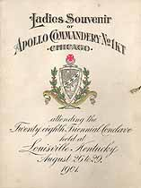 Thumbnail image of Apollo Commandery, No. 1, K. T., 1901 Ladies Souvenir cover