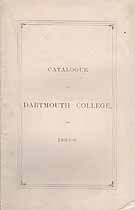 Thumbnail image of Dartmouth College 1868-9 Catalogue cover