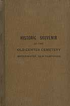 Thumbnail image of Bridgewater Old Center Cemetery 1915 Historic Souvenir cover