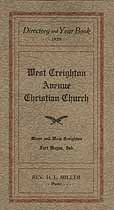 Thumbnail image of West Creighton Avenue Christian Church 1929 Directory cover