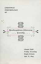 Thumbnail image of Bethany College, Neotrophian Literary Society, 1897, Christmas Performance cover
