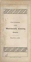 Thumbnail image of Monmouth County Courts, 1886 List of Causes, May Term cover