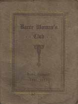 Thumbnail image of Barre Woman's Club 1922-1923 Year Book cover