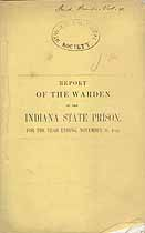 Thumbnail image of Indiana State Prison 1854 Report cover