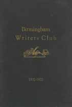Thumbnail image of Birmingham Writers Club 1932-1933 Year Book cover