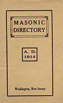 Thumbnail image of Washington N. J. 1914 Masonic Directory cover