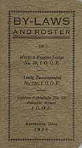 Thumbnail image of Ashtabula I. O. O. F. 1935 Roster cover