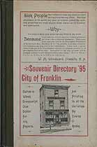 Thumbnail image of Franklin City Directory for 1895 cover