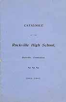 Thumbnail image of Rockville High School 1902-1903 Catalogue cover