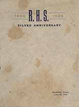 Thumbnail image of Rockville High School 1903-1928 Anniversary Program cover