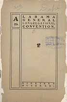 Thumbnail image of Alabama Congregational 1900 Convention Minutes cover