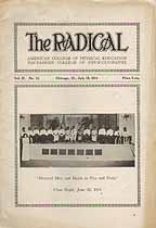 Thumbnail image of The Radical 1914 Commencement Issue cover