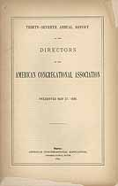 Thumbnail image of American Congregational Association 1890 Report cover