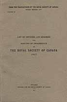 Thumbnail image of Royal Society of Canada 1917 Officers and Members cover