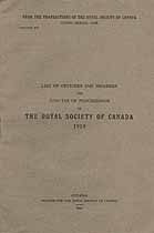 Thumbnail image of Royal Society of Canada 1918 Officers and Members cover