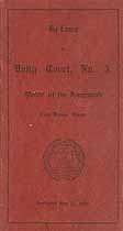 Thumbnail image of Unity Court, Order of the Amaranth, 1919 Roster cover