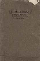 Thumbnail image of Richfield Springs High School 1912-1913 Catalog cover