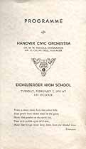 Thumbnail image of Hanover Civic Orchestra 1933 Programme cover