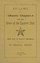 Thumbnail image of Naomi Chapter, No. 25, OES 1895 By-Laws cover