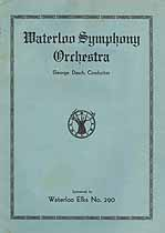 Thumbnail image of Waterloo Symphony Orchestra 1935-36 Program cover